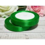 Атласная лента 12 мм, 23 м зеленый сочный