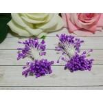 Тычинки гладкие 2-3 мм, 80 шт. фиолетовый