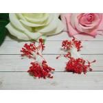 Тычинки гладкие 2-3 мм, 80 шт. красный