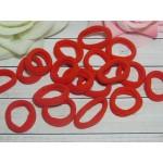 Резиночки для волос бесшовные 30 мм, 50 шт. красный