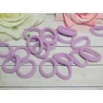 Резиночки для волос бесшовные 30 мм, 50 шт. сиреневый
