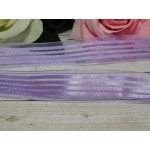Органза с рисунком 25 мм, 23 м сиреневый полоски