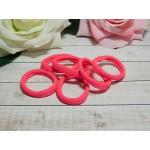 Резиночки для волос бесшовные 40 мм, 50 шт. розовый яркий