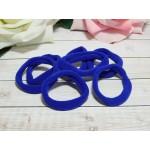 Резиночки для волос бесшовные 30 мм, 50 шт. синий