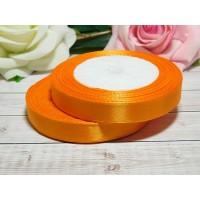 Атласная лента 12 мм, 23 м оранжевый