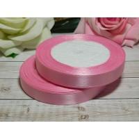 Атласная лента 12 мм, 23 м розовый
