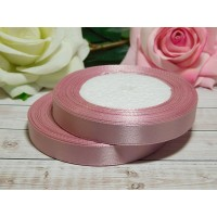 Атласная лента 12 мм, 23 м розовый дымчатый