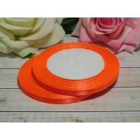Атласная лента 6 мм, 23 м оранжевый яркий