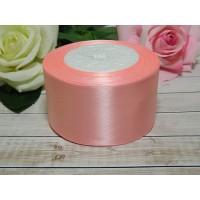 Атласная лента 50 мм, 23 м розовый персик