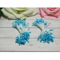 Тычинки гладкие 2-3 мм, 80 шт. голубой яркий