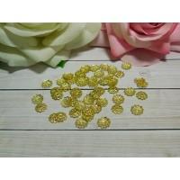 Розетки-шапочки для бусин 9 мм, 100 шт. золото