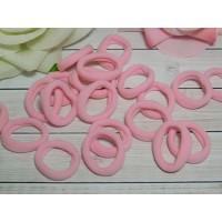 Резиночки для волос бесшовные 30 мм, 50 шт. розовый