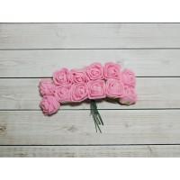 Розы фом, 144 шт. (12 букетов) розовый