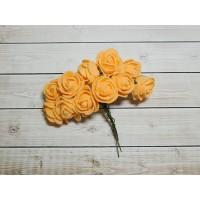 Розы фом, 144 шт. (12 букетов) оранжевый