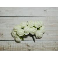Розы фом, 144 шт. (12 букетов) белый