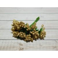 Веточки-тычинки, 144 шт (12 букетов) золото