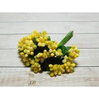 Веточки-тычинки, 144 шт (12 букетов) желтый