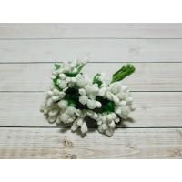 Веточки-тычинки, 144 шт. (12 букетов) белый