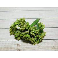 Веточки-тычинки, 144 шт (12 букетов) зеленый оливковый