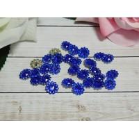 Стразы Цветок акрил 12 мм, 100 шт. синий