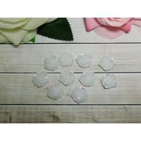 Фигурки из пластика Роза перл 24 мм, 20 шт.