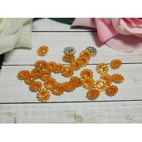 Стразы Цветок акрил 12 мм, 100 шт. оранжевый