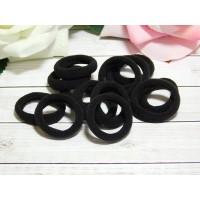 Резиночки для волос бесшовные 30 мм, 50 шт. черный