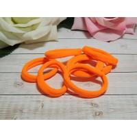 Резиночки для волос бесшовные 30 мм, 50 шт. оранжевый