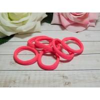 Резиночки для волос бесшовные 30 мм, 50 шт. розовый яркий