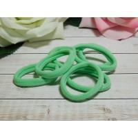 Резиночки для волос бесшовные 30 мм, 50 шт. зеленый мятный