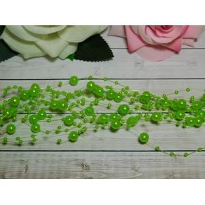 Нить с бусинами 3 и 8 мм 130-140 мм, 10 шт. зеленый