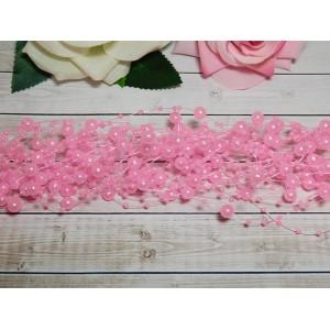 Нить с бусинами 3 и 8 мм 130-140 мм, 10 шт. розовый