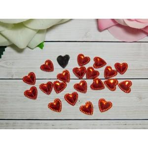 Стразы Сердце 12 мм, 100 шт. красный