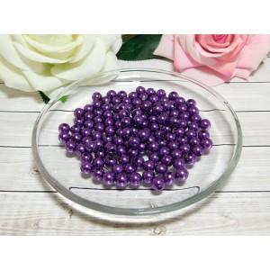 Бусины пластик 8 мм, 30 гр. (ок. 120 шт.) фиолетовый