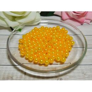 Бусины пластик 8 мм, 30 гр. (ок. 120 шт.) оранжевый