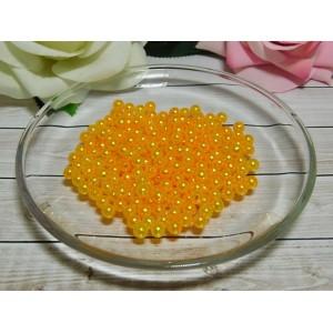 Бусины пластик 6 мм, 30 гр. (ок. 300 шт.) оранжевый