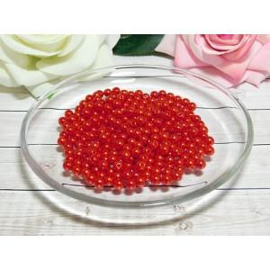 Бусины пластик 6 мм, 30 гр. (ок. 300 шт.) красный