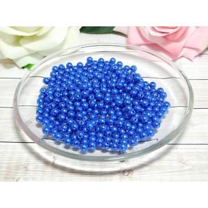 Бусины пластик 6 мм, 30 гр. (ок. 300 шт.) синий