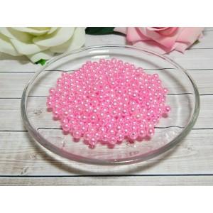 Бусины пластик 6 мм, 30 гр. (ок. 300 шт.) розовый