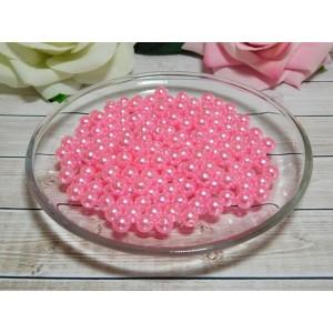 Бусины пластик 8 мм, 30 гр. (ок. 120 шт.) розовый