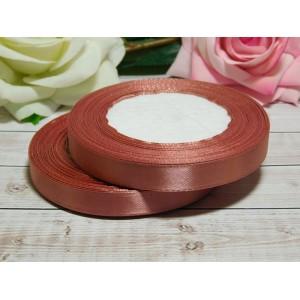 Атласная лента 12 мм, 23 м медный розовый