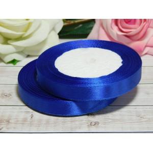 Атласная лента 12 мм, 23 м синий