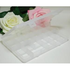 Контейнер для хранения 13*19*23 мм, 24 ячейки белый