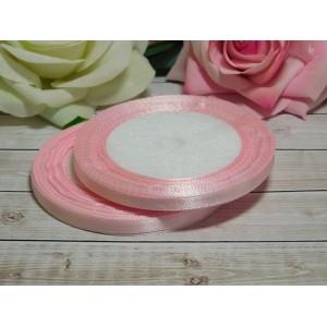 Атласная лента 6 мм, 23 м розовый нежный