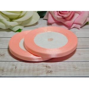 Атласная лента 6 мм, 23 м розовый персик