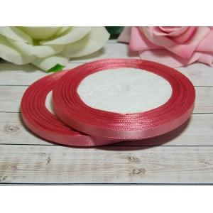 Атласная лента 6 мм, 23 м розовый дымчатый