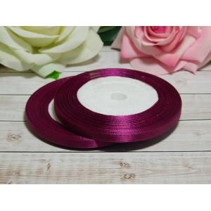 Атласная лента 6 мм, 23 м малиновый пурпур