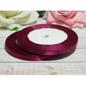 Атласная лента 6 мм, 23 м малиновый пурпур темный