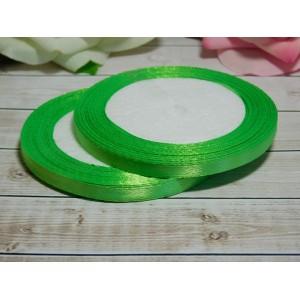 Атласная лента 6 мм, 23 м зеленое яблоко