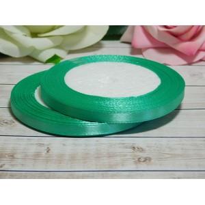 Атласная лента 6 мм, 23 м зеленый опал